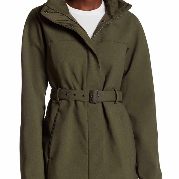 96d93bf48 Green the North Face trench size L